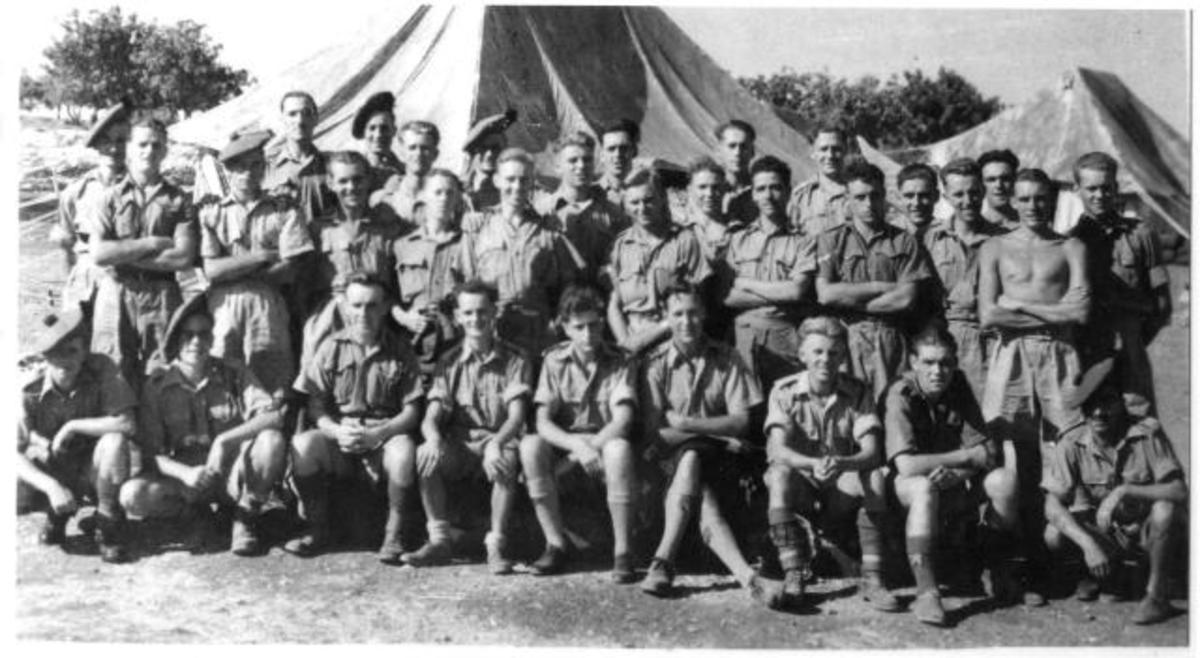 Men of 'C' Battalion (11 - Scots - Commando) in Egypt after withdrawal from Crete