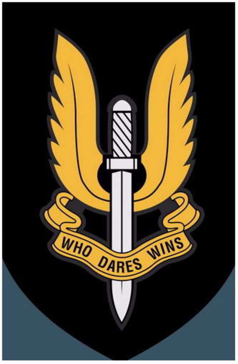 That SAS cap badge - earn one if you can! Recruitment is open periodically from all combat regiments, but training in necessarily hard to enter the crack regiment of the British Army
