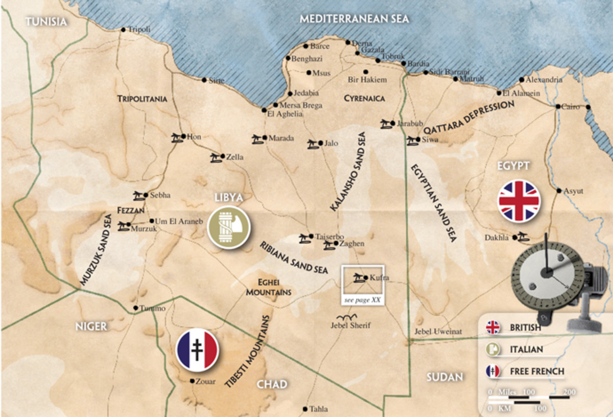Allied and Axis positions in the Western Desert (Libya and Egypt)