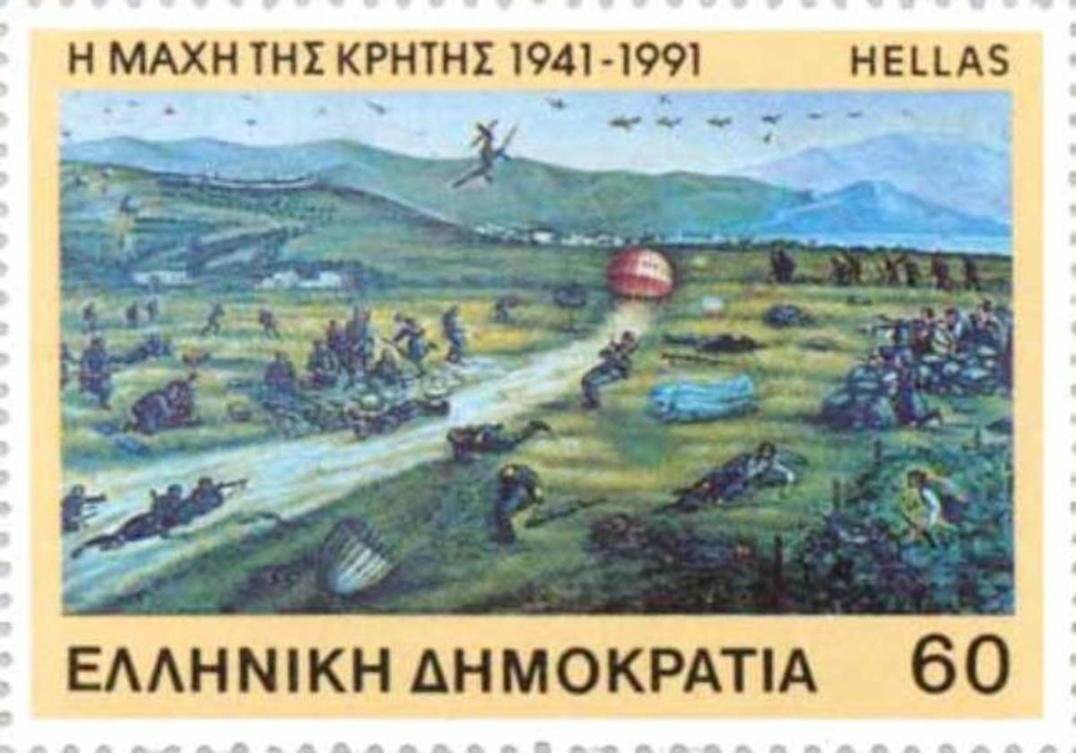 The Greeks issued a stamp to mark the beginning of four years of Nazi occupation