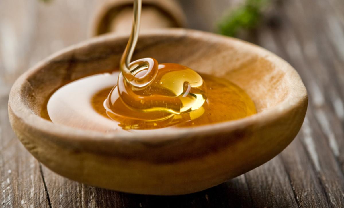 Golden amber honey...