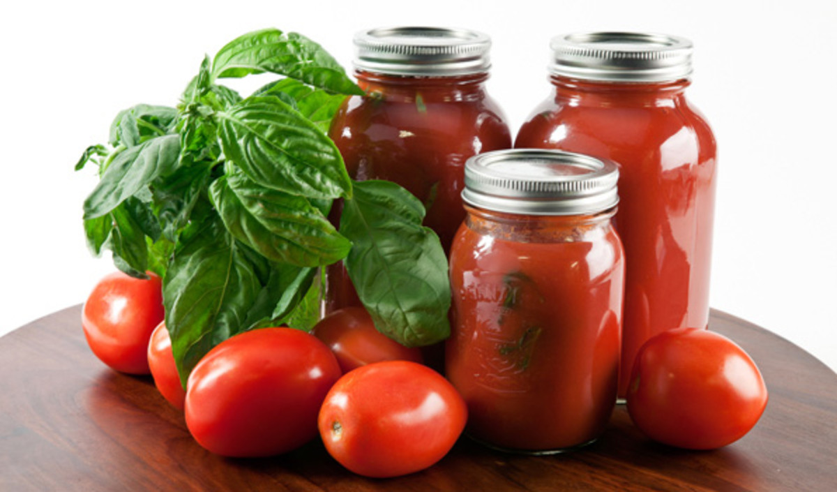 Make tomato sauce for spaghetti...