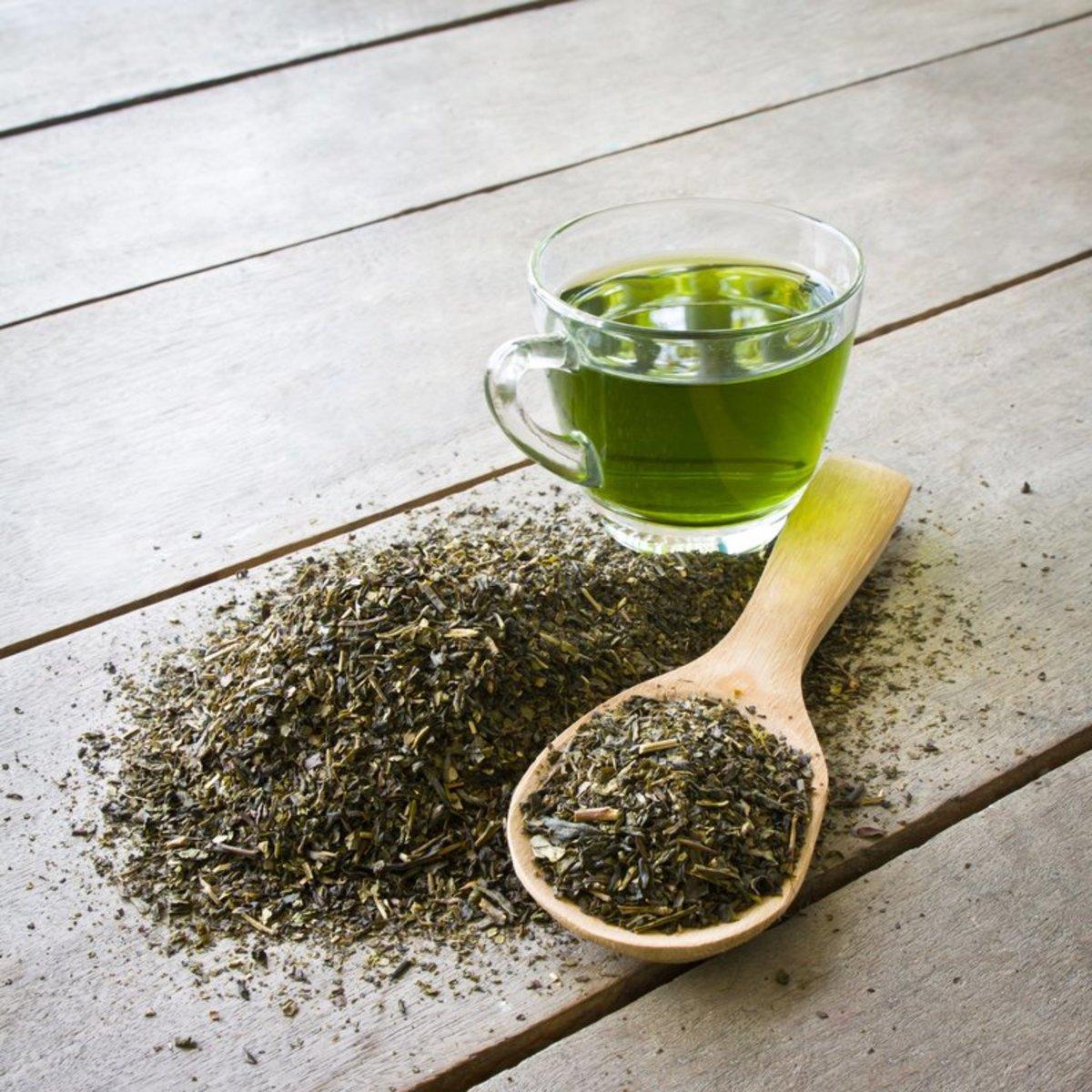 Pure green tea
