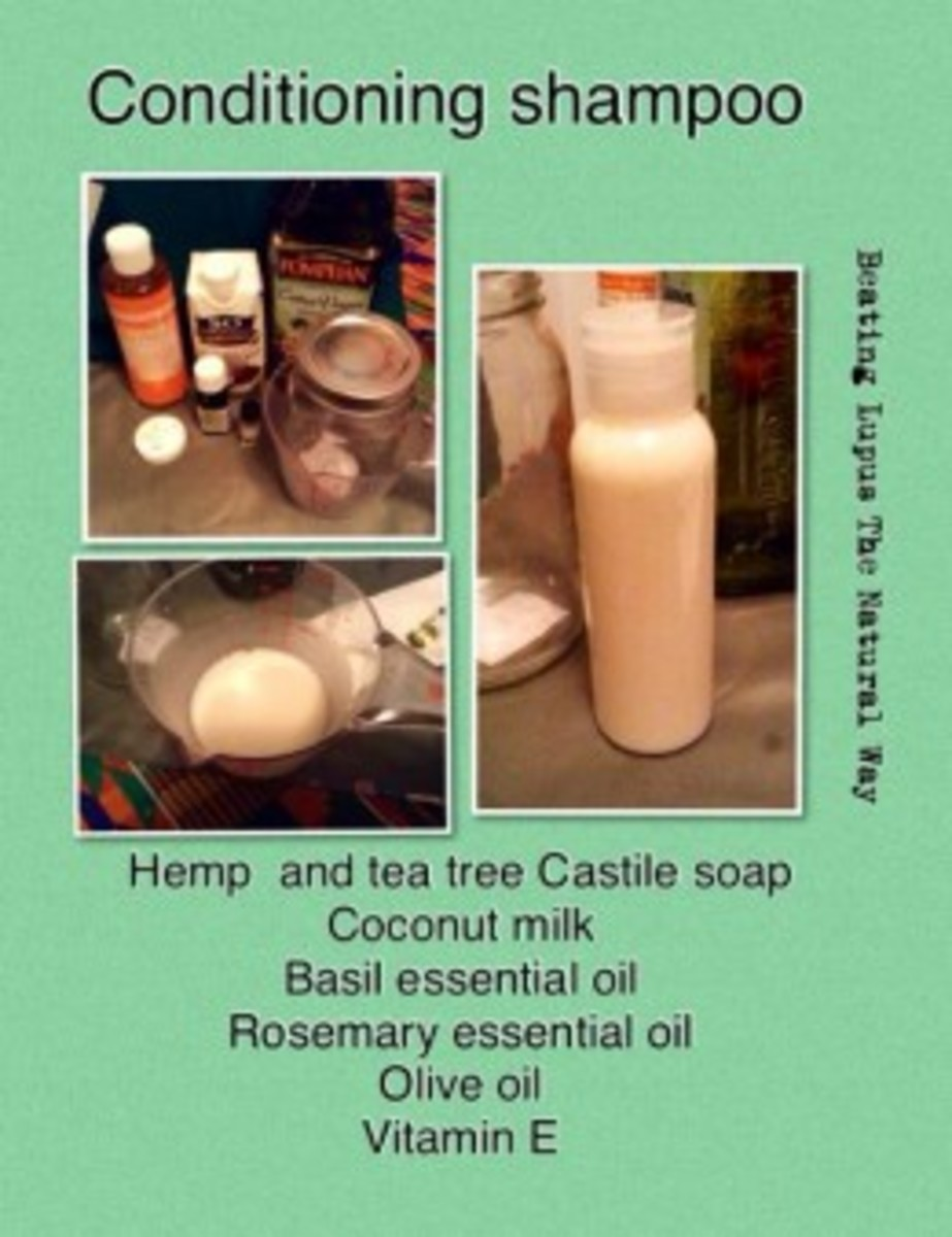 Herbal shampoo with essential oils, designed for stimulating hair growth