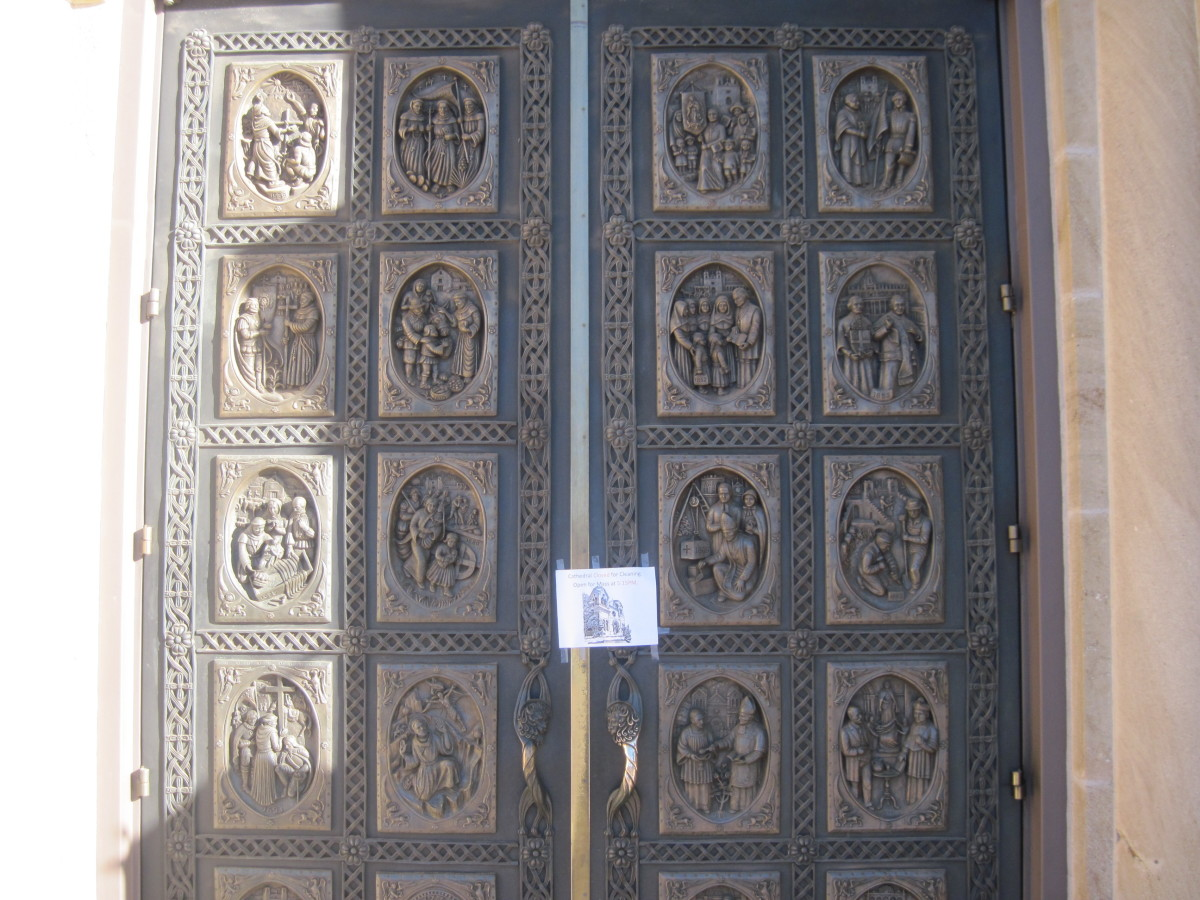 Bronze Doors At The Cathedral Basilica of Saint Francis of Assisi