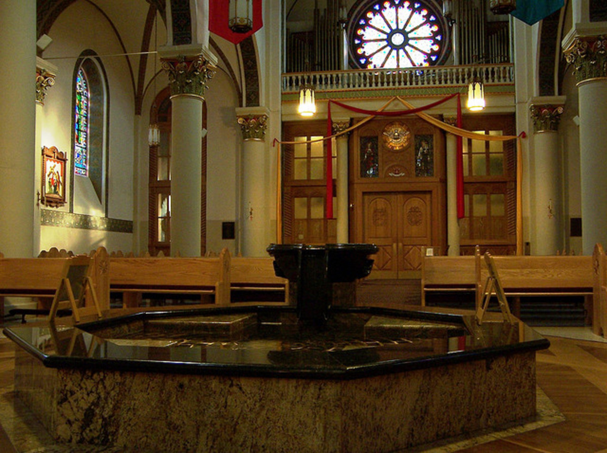 Baptismal At The Cathedral Basilica of Saint Francis of Assisi