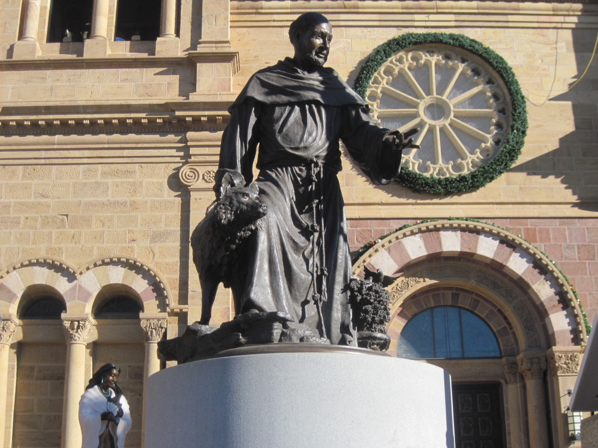 St. Francis of Assisi Statue At The Cathedral Basilica of Saint Francis of Assisi