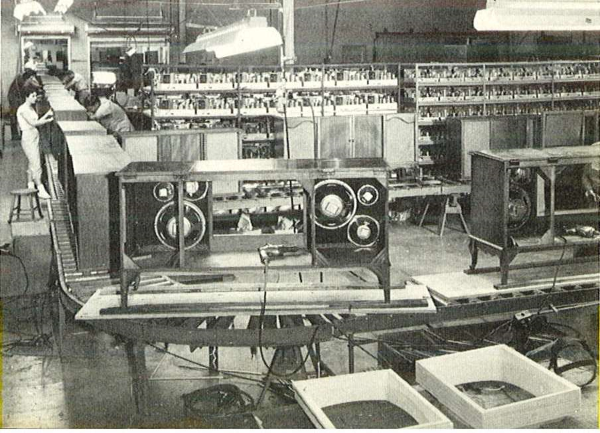 Many hard working women hands wired the chassis of these beautiful Curtis Mathes stereos and television console back in the 1960s.