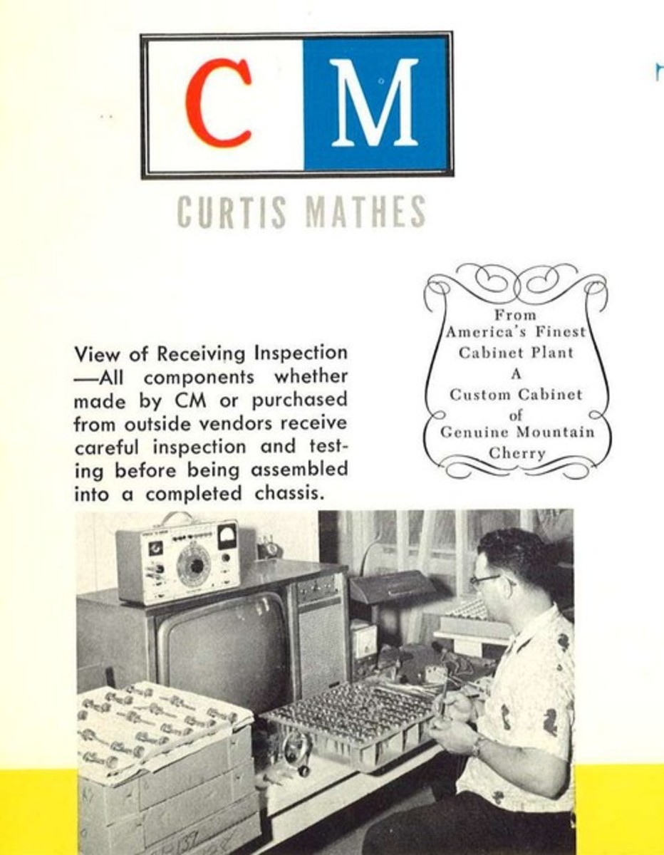 The very best in television picture, the new high fidelity television sound is all in the  Curtis Mathes Kingston Models K1523