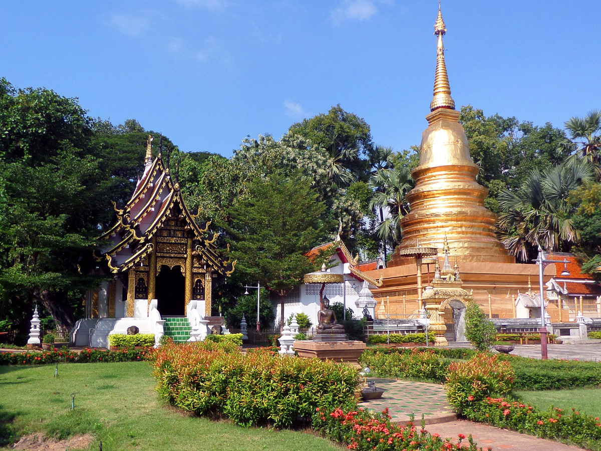 Nantaram Temple Grounds, Chiang Mai, Thailand. Example of a rejected photo