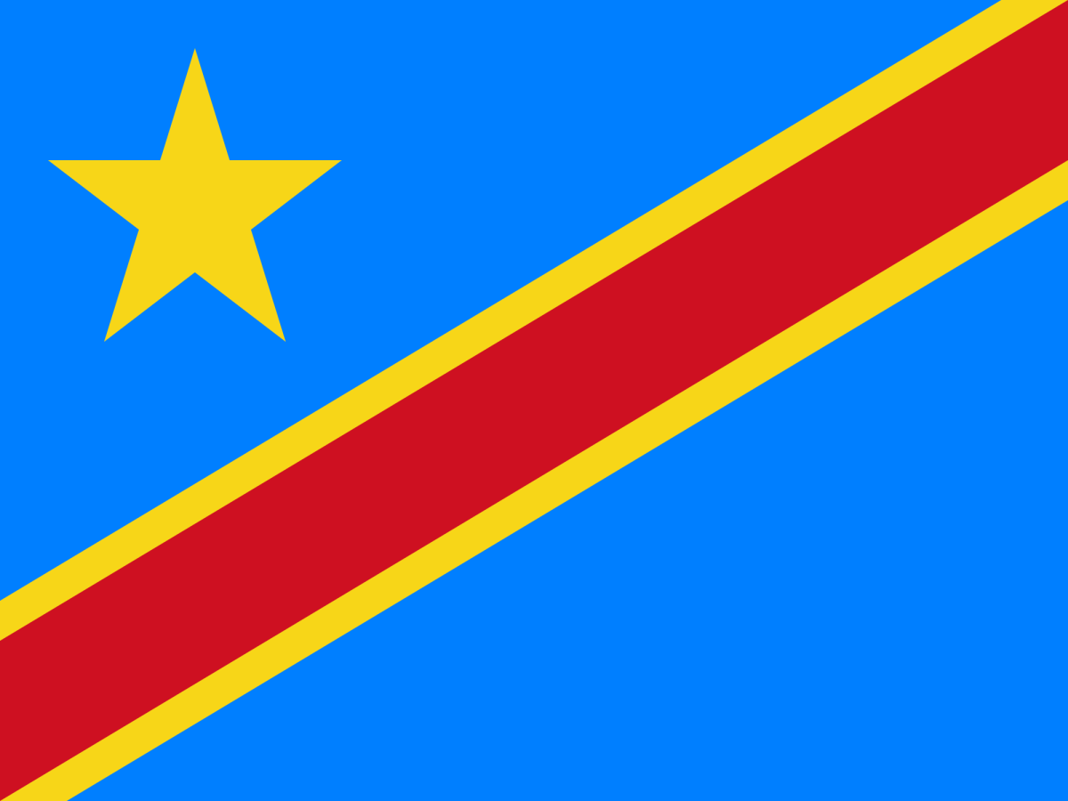Flag of D.R Congo