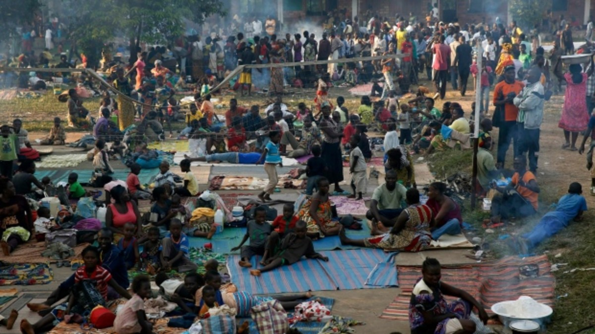 People in refugee camp in C.A.R