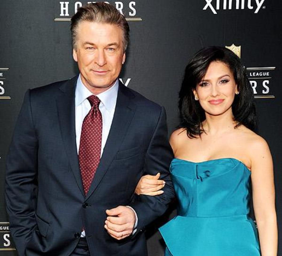 Actor Alec Baldwin (57) and his wife Hilaria (31)