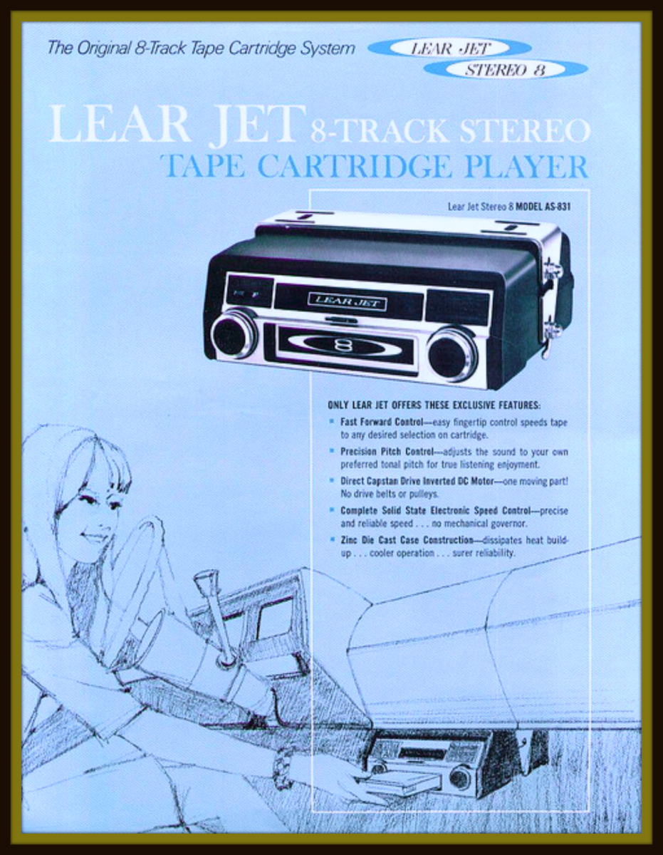 It is very remarkable that William Lear was able to convince the automobile executives in the United Sates to install these 8 track players in the dashboards of cars like the Ford Mustangs and fearless Fair lanes.