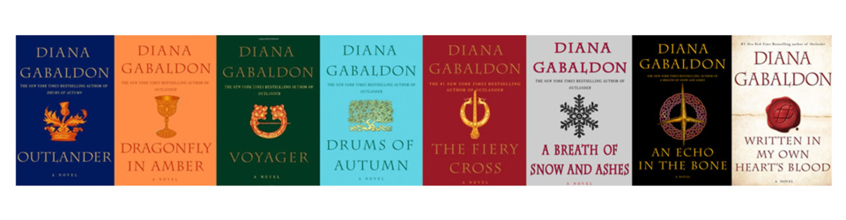 The eight books of Gabaldon's Outlander series.  A ninth book is in production.