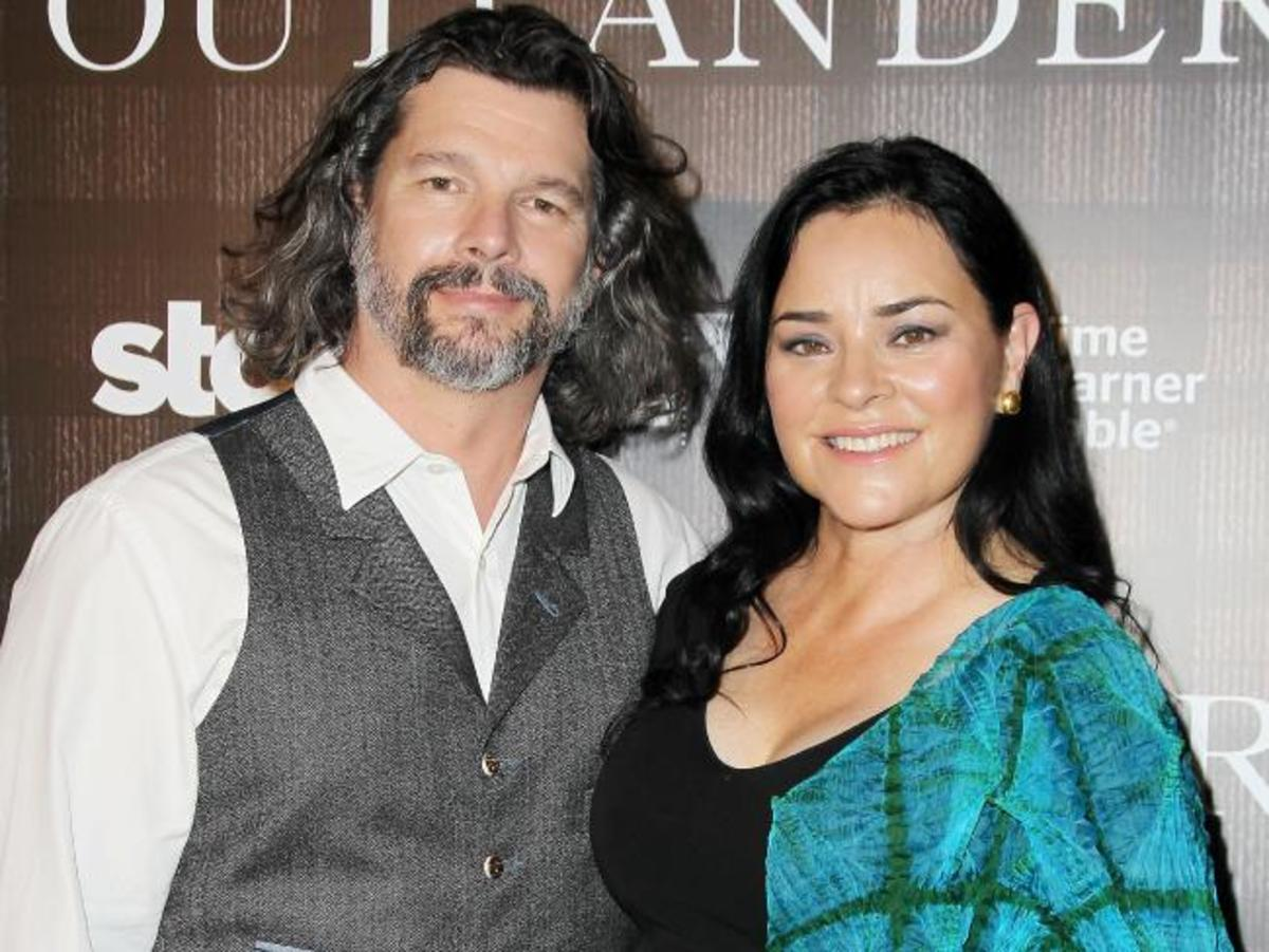 Ron E. Moore, executive producer of Outlander, the TV series and Diana Gabaldon, the author of the novels. The TV series, Outlander,  is the merging of these two great artists.