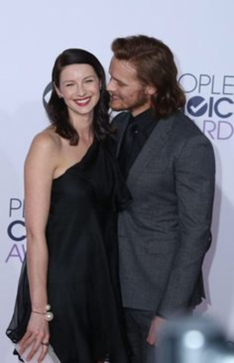Caitriona Balfe (Claire) and Sam Heughan (Jamie) play the popular protagonists of Gabaldon's Outlander novels.