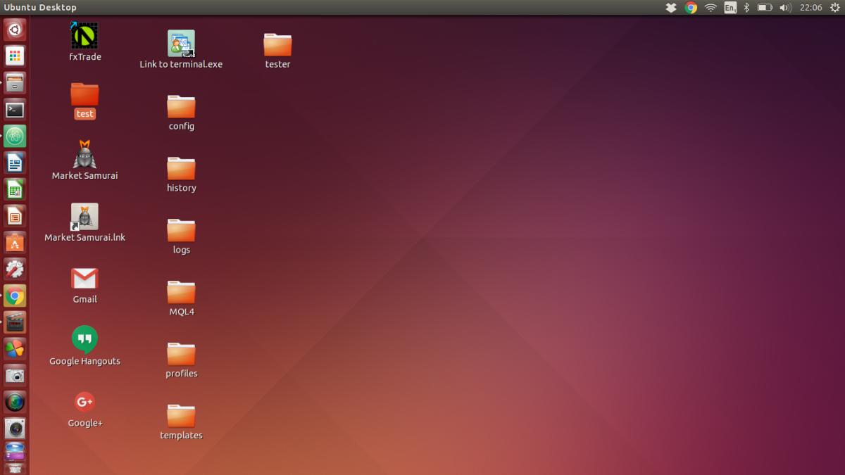 The Ubuntu desktop