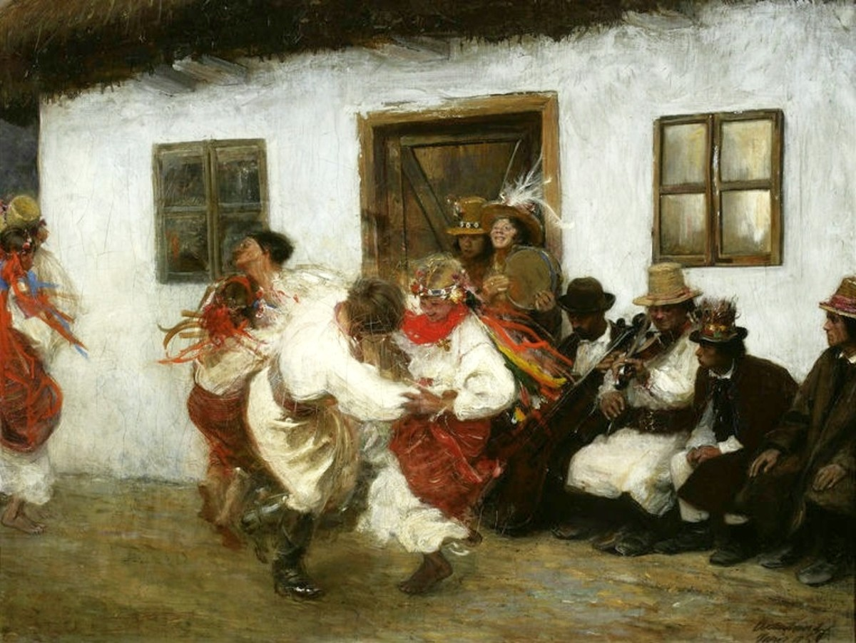The кoлoмийкa (kolomyjka) song and dance of Malanka.