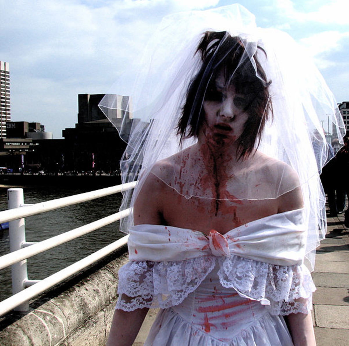 A zombie bride can be played by a man.