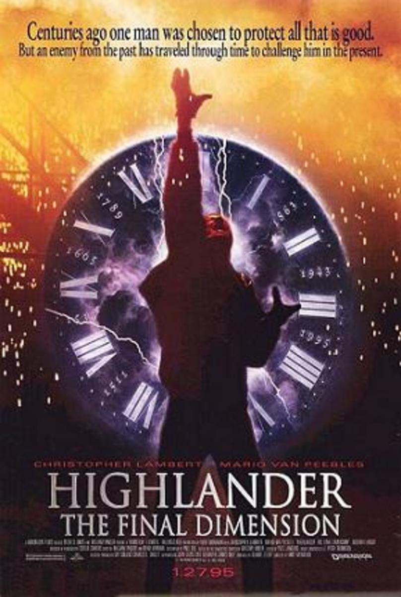 Highlander: The Final Dimension theatrical release poster.