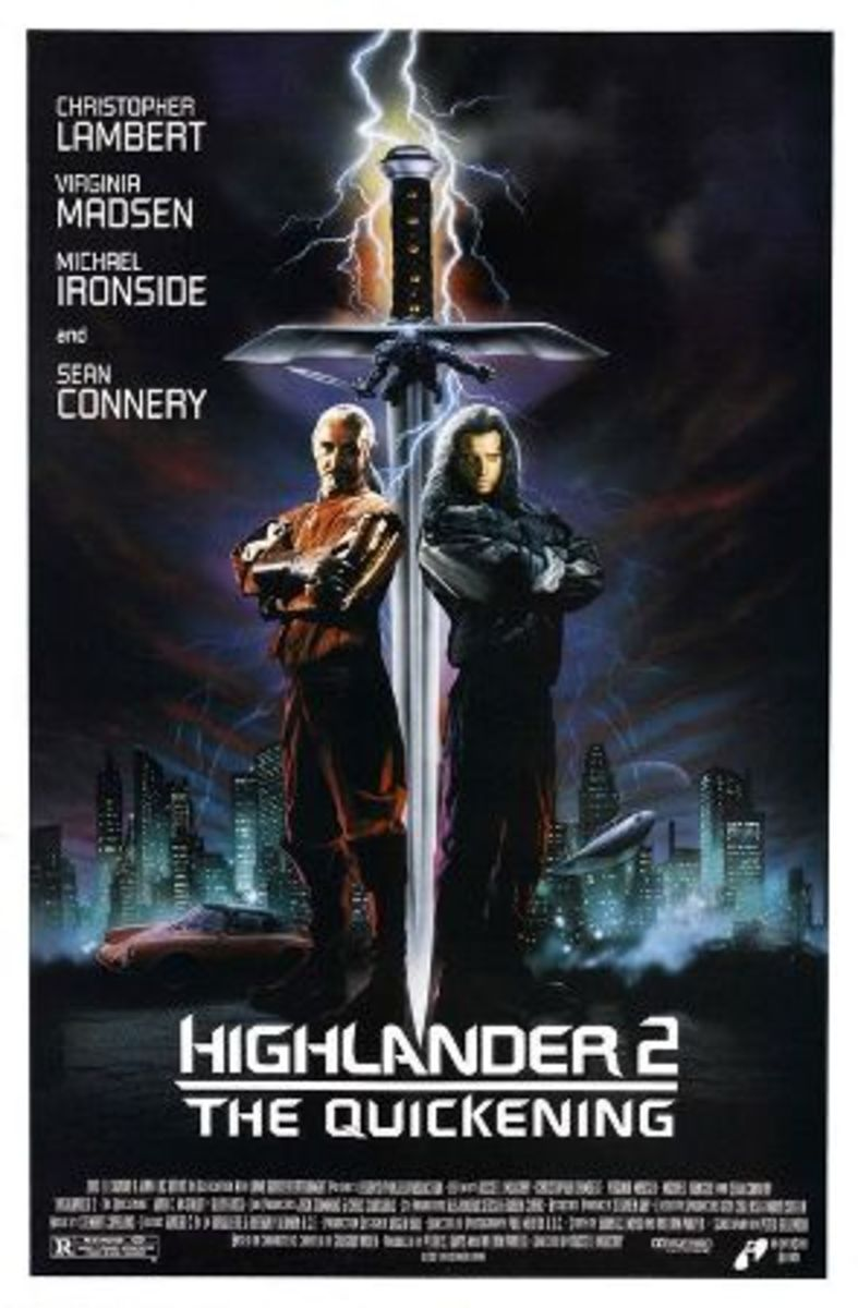 Highlander 2: The Quickening theatrical release poster.