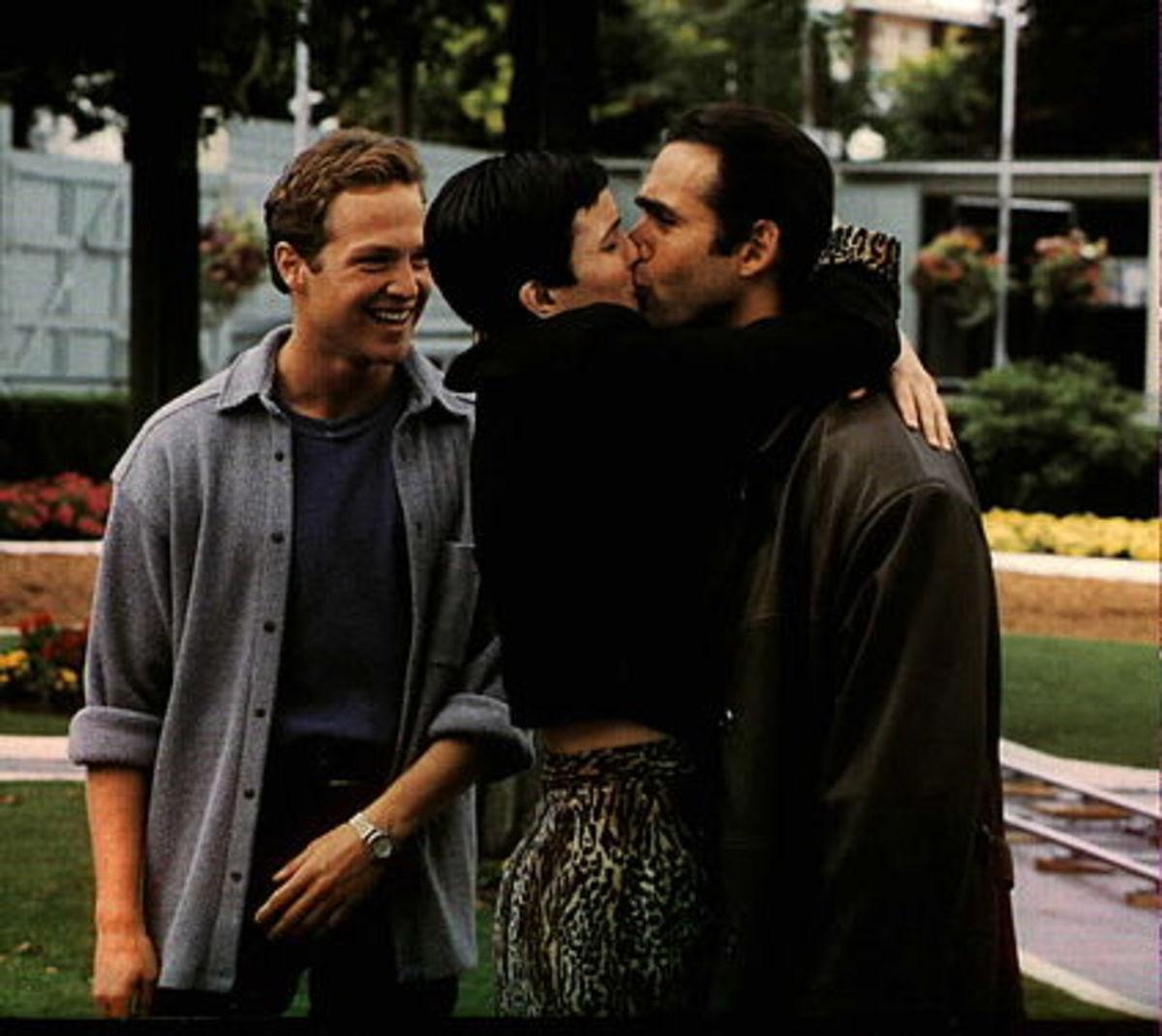Duncan MacLeod (Adrian Paul), Amanda (Elizabeth Gracen), and Richie Ryan (Stan Kirsch