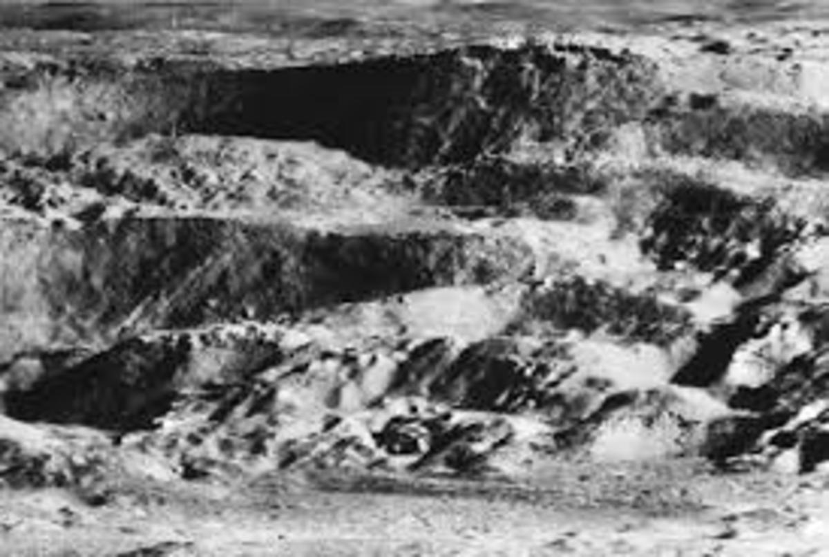 Could this be a strip mine site on the moon?