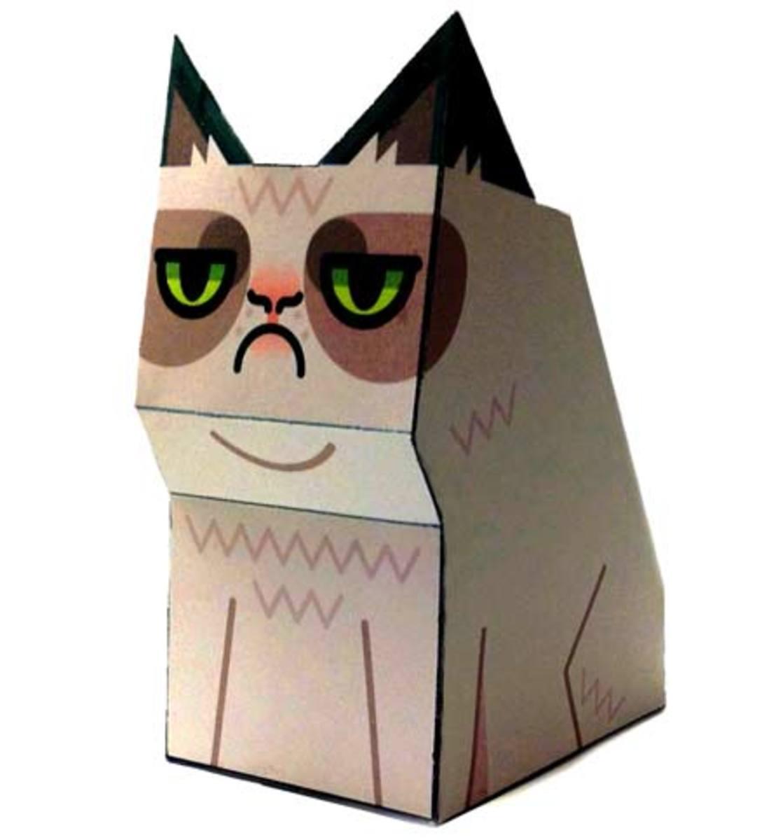 Make a 3-D Grumpy Cat From Paper