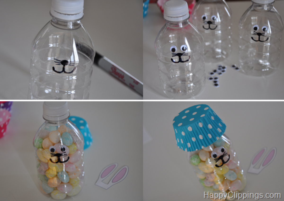 More steps to making these Easter Bunny bottles.