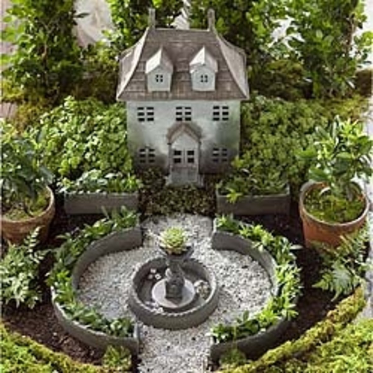 Here's the French Chateau Fairy Garden - beautiful isn't it?  It's available at the fairygardenstore.com