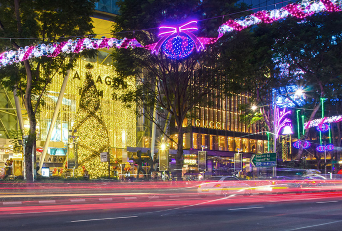 The annual Orchard Road Christmas Light-Up is one of the most anticipated night events in Singapore.