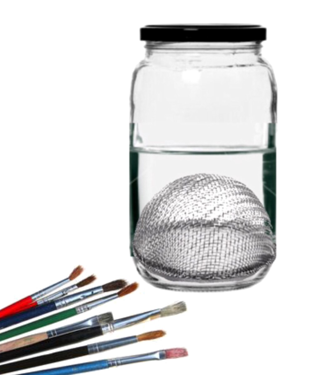 Create Your Own Paint Brush Cleaning Container