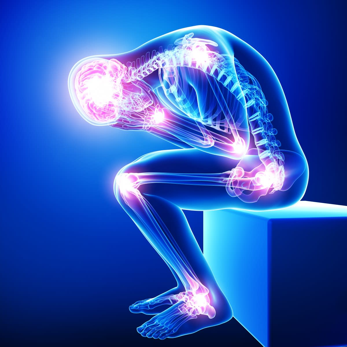 At any given time a person who suffers from Fibromyalgia may experience pain in all of the tender points and more, or just a few. Pain can vary and change suddenly from mild, to moderate, to severe. When a flare strikes it is unpredictable.