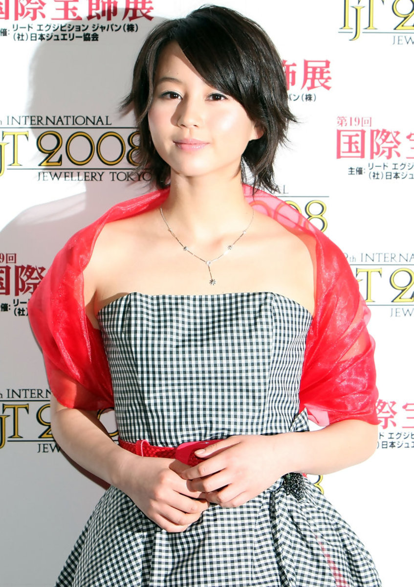 Actress Maki Horikita is in attendance at the Best Jewelry Wearer Awards Ceremony during the 19th International Jewelry Tokyo 2008 Fair.