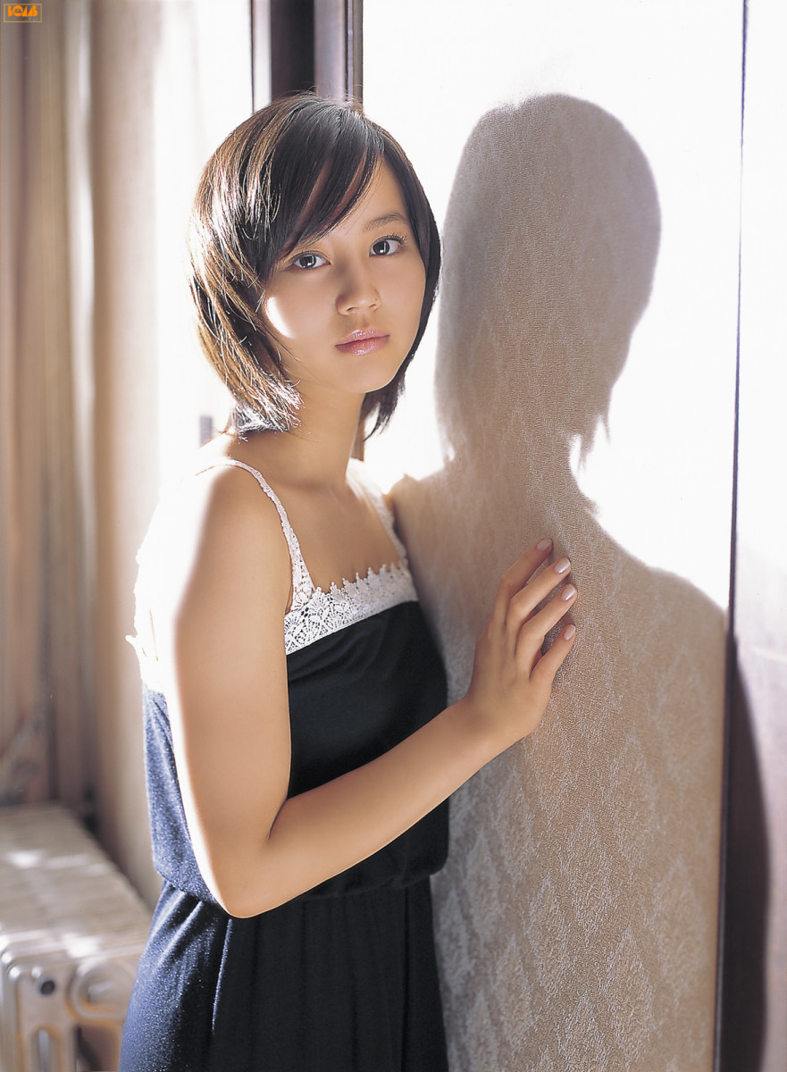 Japanese Actress Maki Horikita seen here in 2006 as she is involved in a photo session for one of the gravure modeling channels.