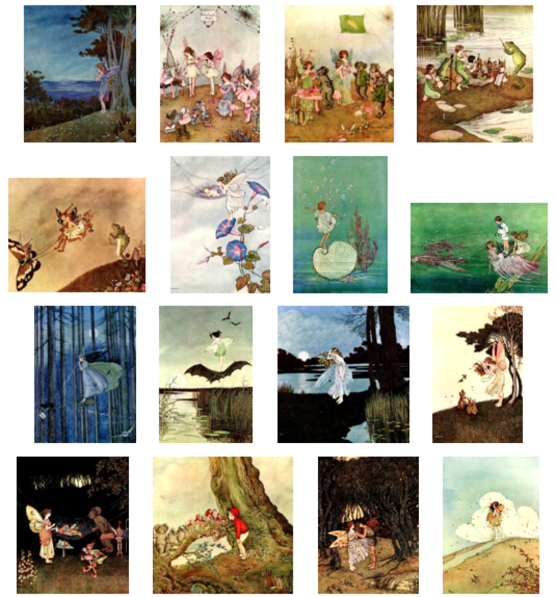 "Here we show each of the full-color designs by Ida Rentoul Outhwaite published in ""The Enchanted Forest"" (1921)."