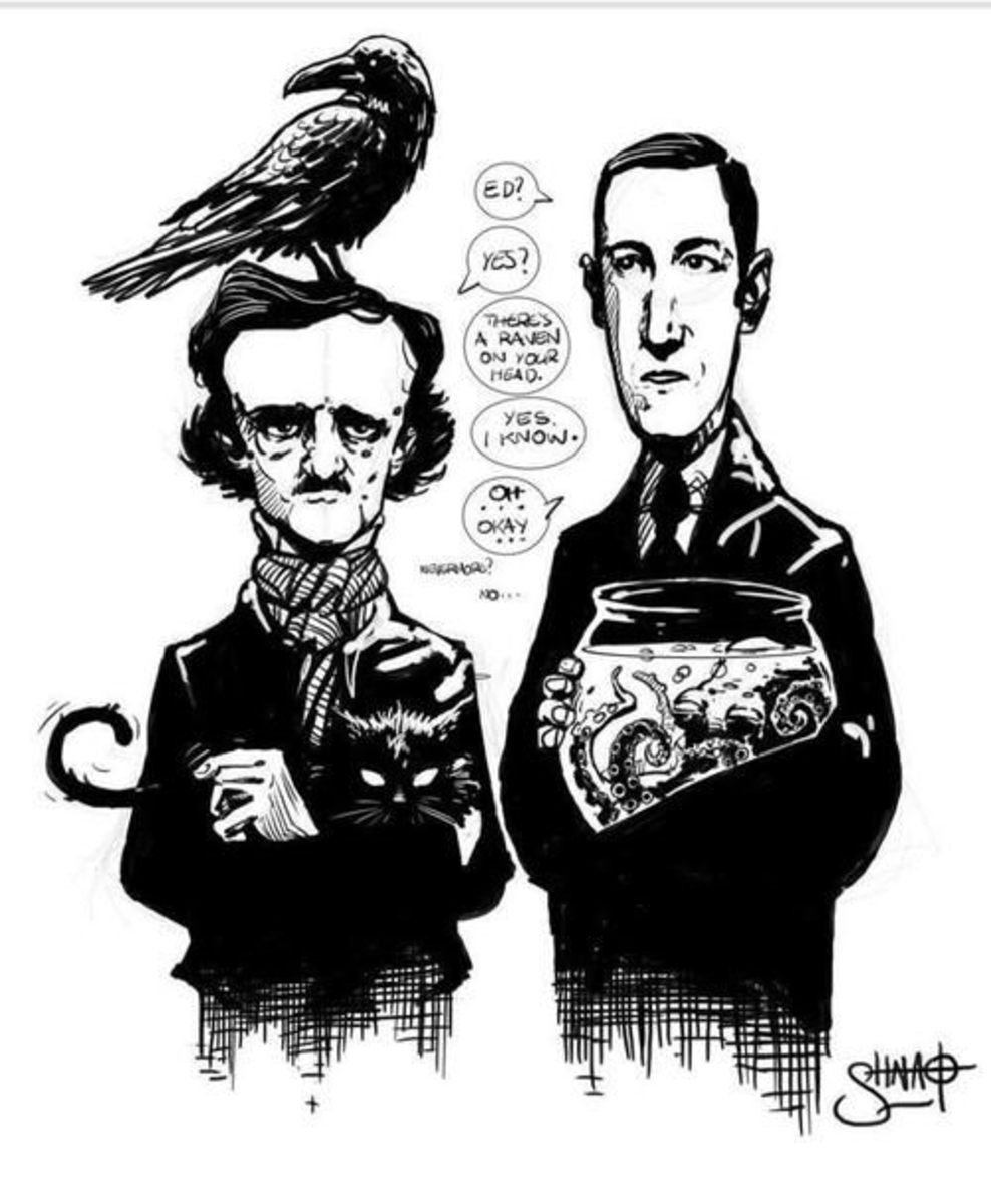 A Sketchy Comparison of Lovecraft and Poe