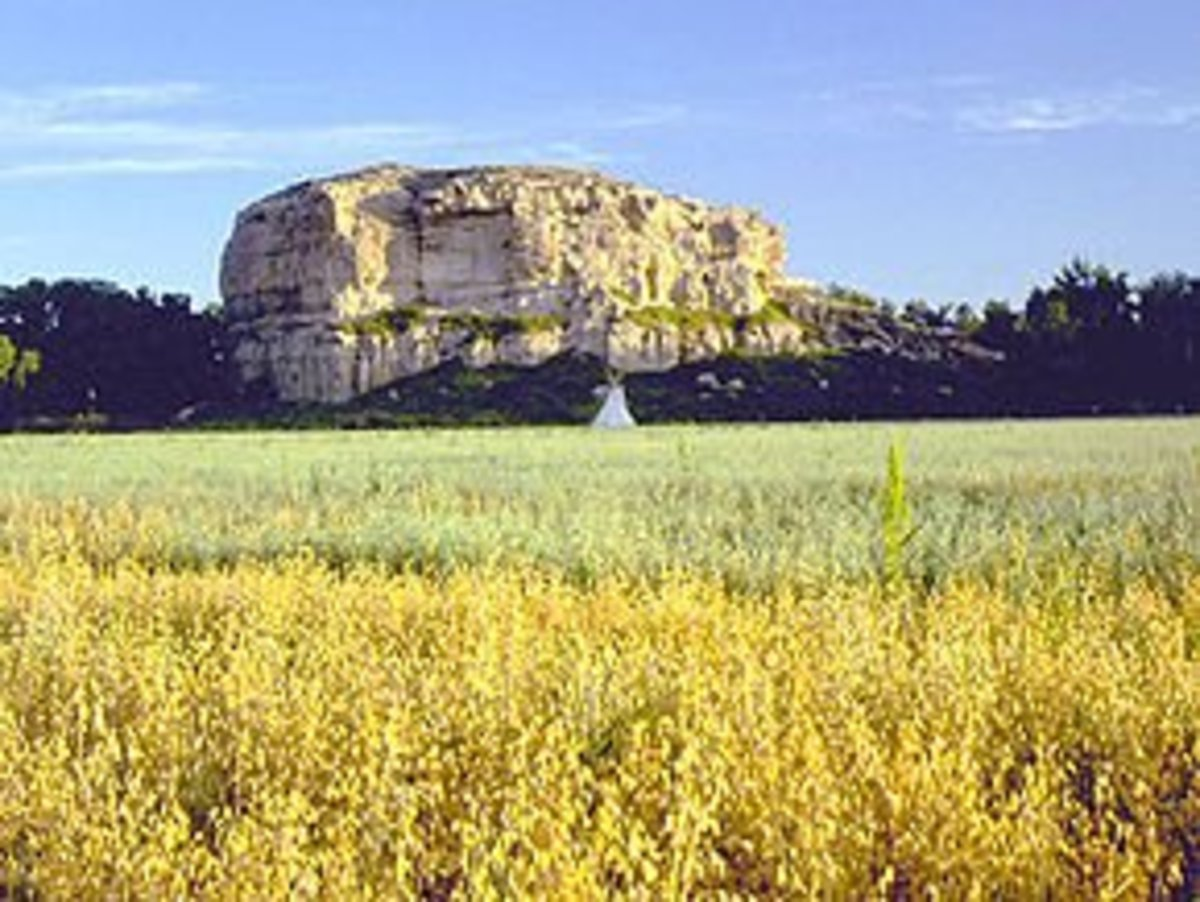 Pompy's Pillar is a natural landmark located in Southeastern Montana
