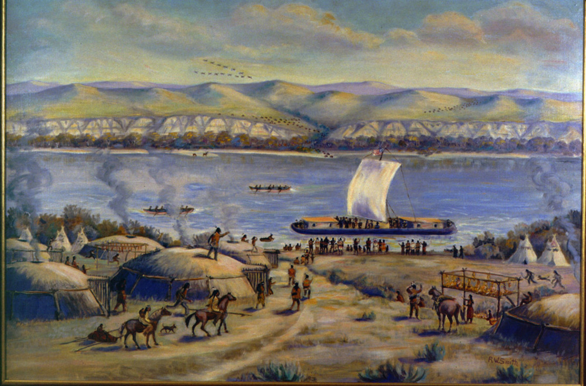At first, the explorers used a keelboat to carry their supplies up the Missouri River.