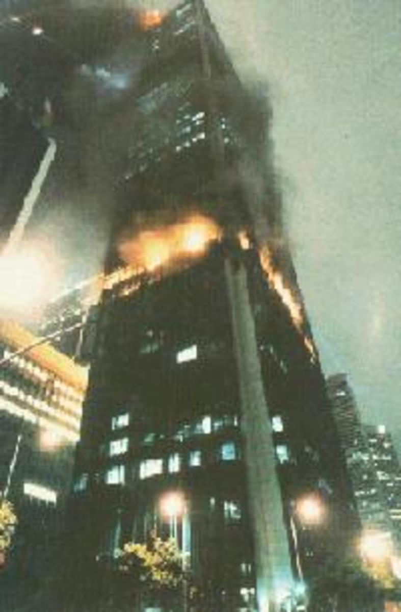 This is the L.A. First Interstate Bank Building Fire, that consumed four floors and yet remained entirely intact.
