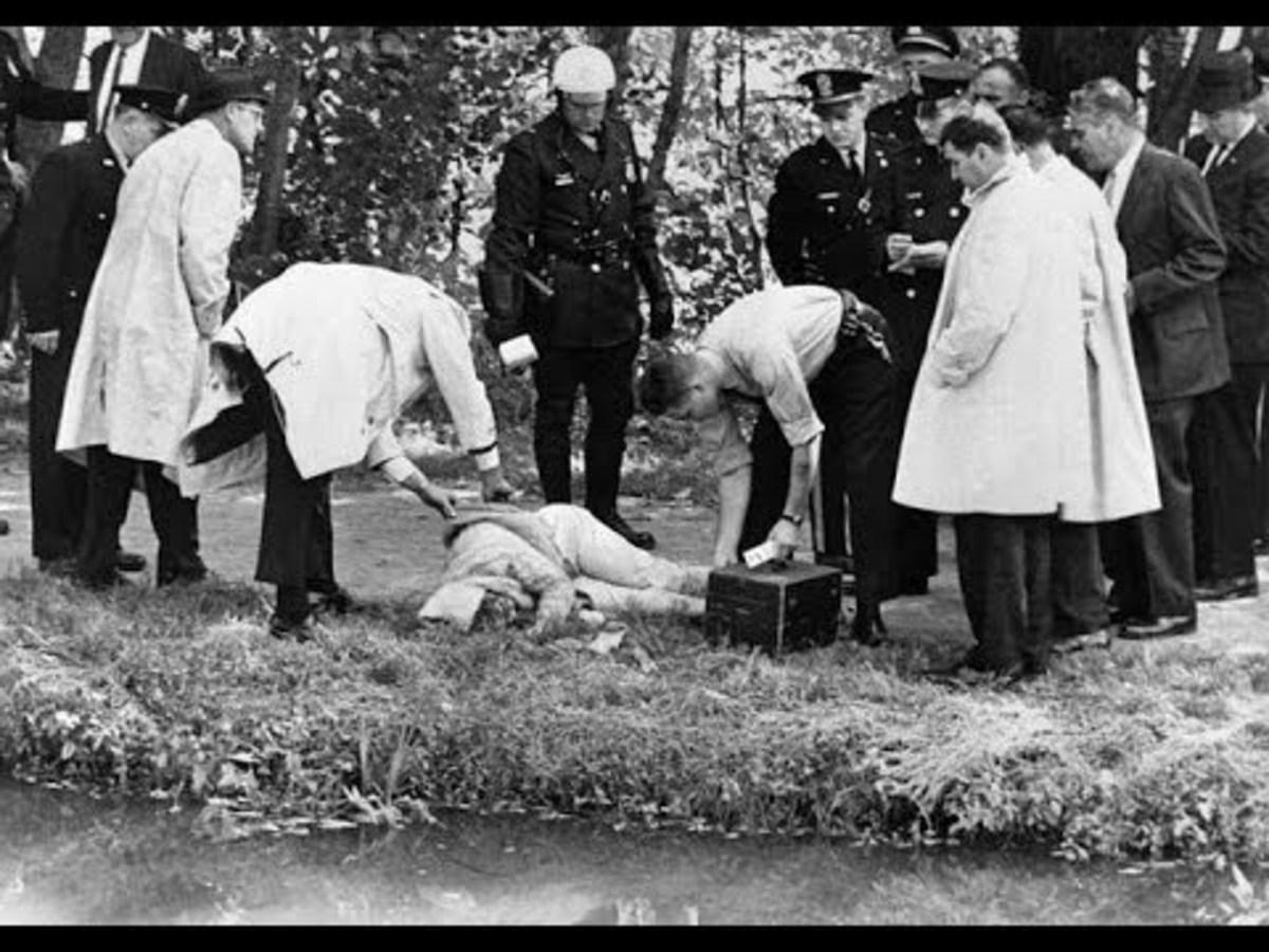 The murder scene 1964