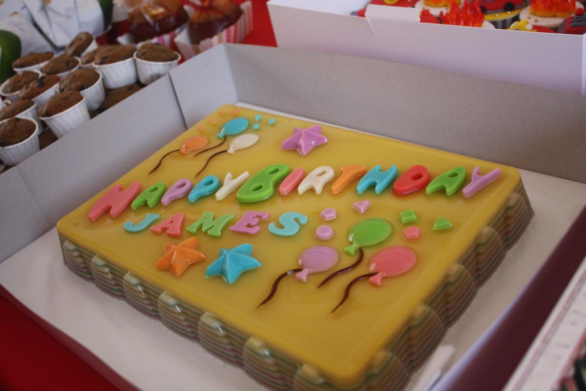 Jelly birthday cake