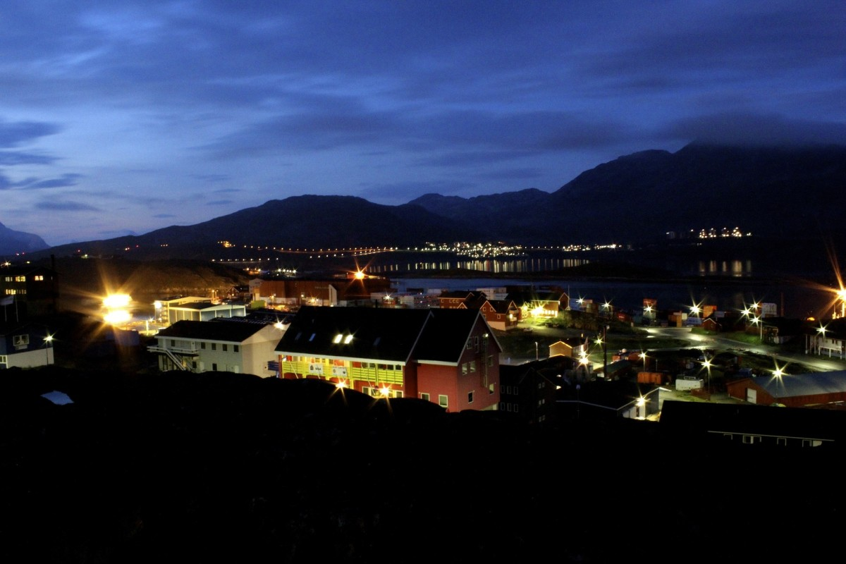 Night View Nuuk,Greenland