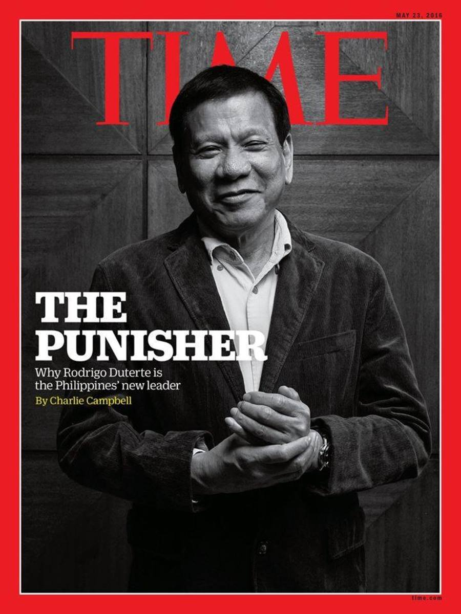 "Duterte graced the cover page and story on Time Magazine as ""The Punisher."""