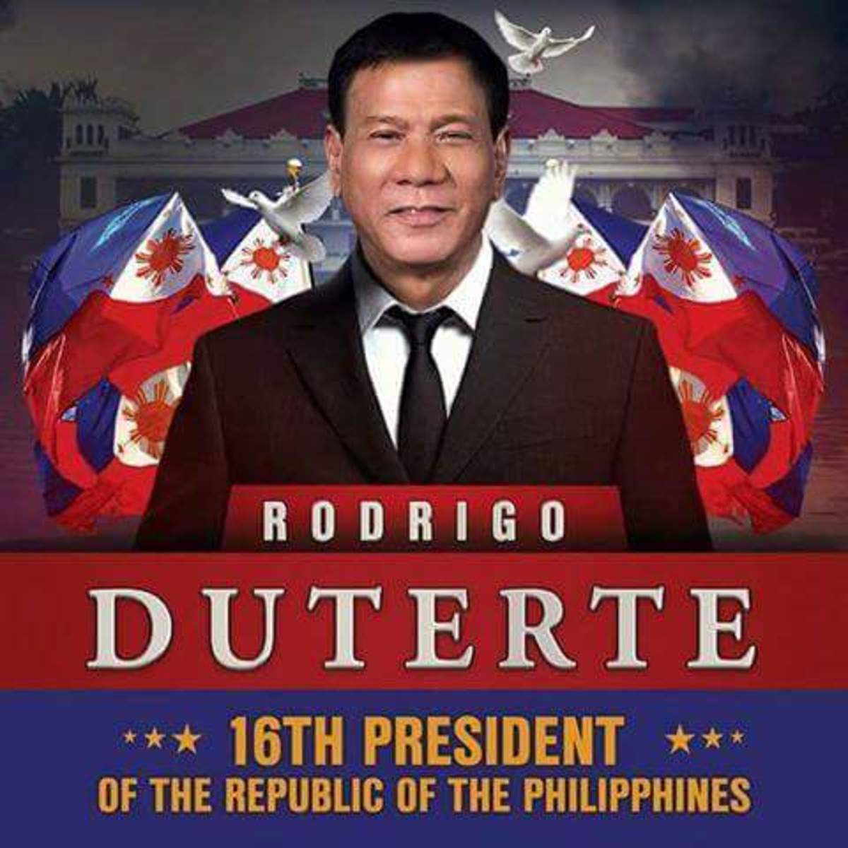 Rodrigo Duterte has just taken his oath the 16th President of the Republic of the Philippines.