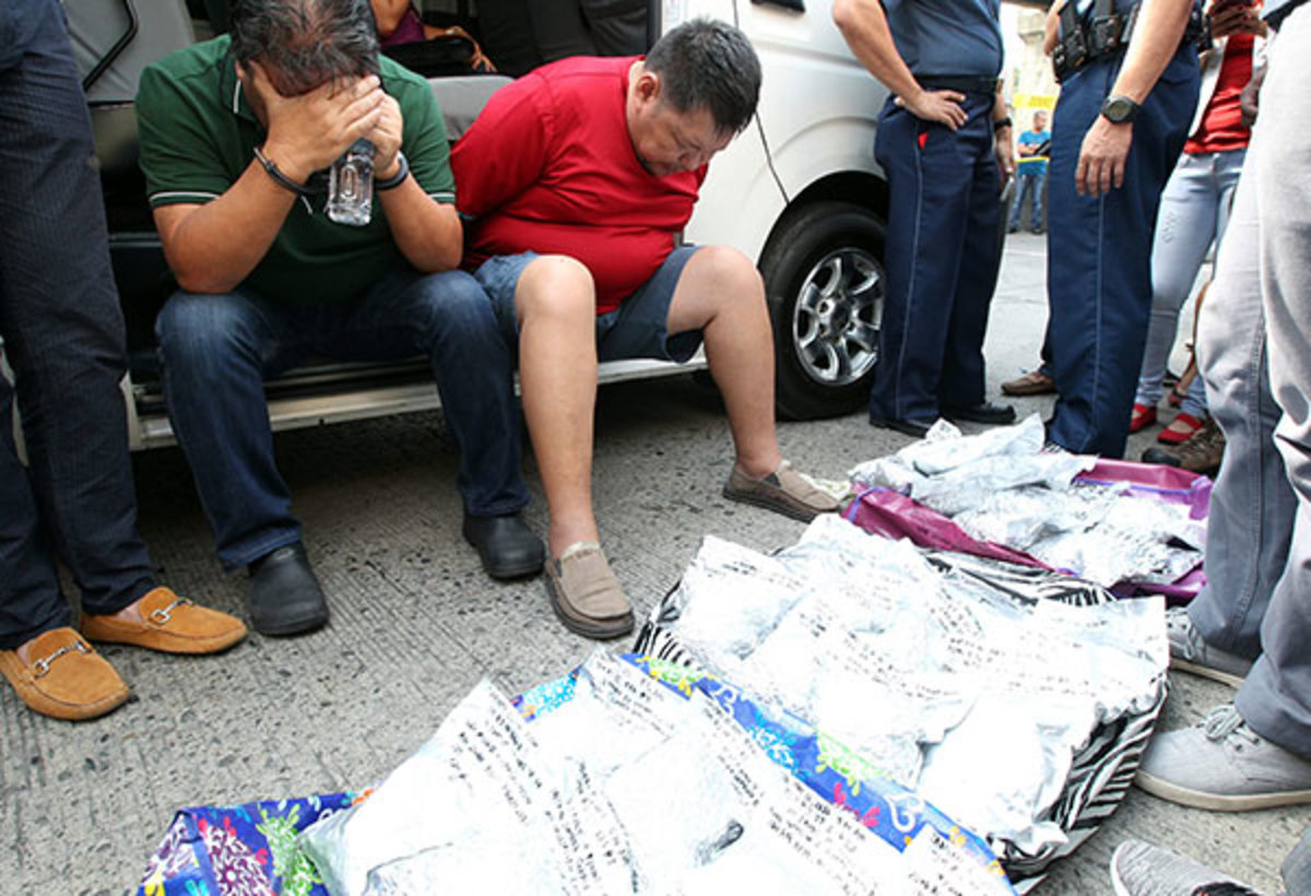 Government agents and elements of the Philippine National Police make a $4 million buy-bust in Manila.