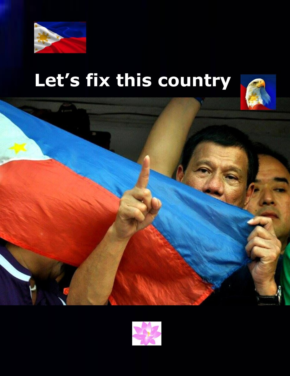 "Duterte asked everyone to ""Let's fix this country."""