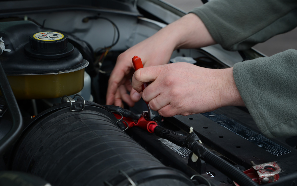 Check each battery cable for corrosion and damage.