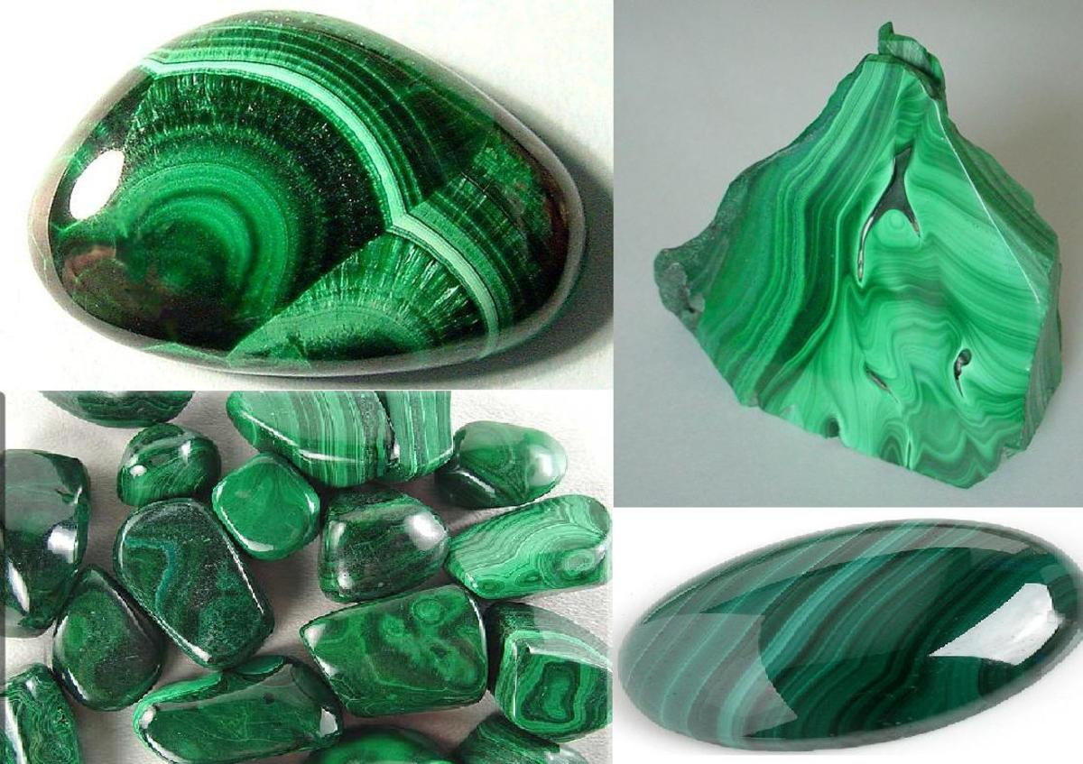 Raw Malachite, beautiful deep green color.